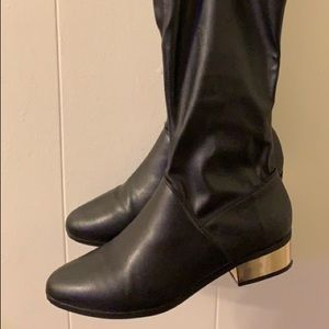 Shoes - Gold heel boots